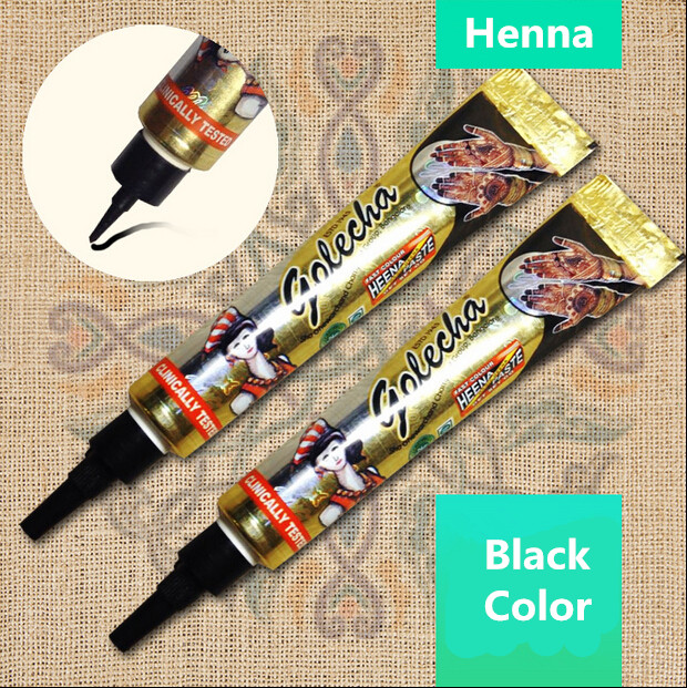1PCS Fresh Quality Black Henna Tattoo Paste Mehndi Hand Made Tattoo Pen Cones Natural Plants Pigment Henna-Tattoo-Ink