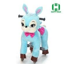 Топ ездить на игрушки Лучшая цена привет Ce ходить механических Верховая езда пони жеребенок игрушка Cavalos Brinquedos Синий Кролик мальчик для девочек подарок для детей