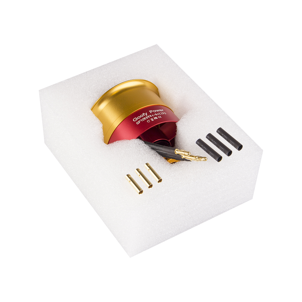 QX-MOTOR NEW 70mm EDF 12blades 6S for 70mm metal EDF airplane Ducted Fan EDF With Motor and 100A esc For RC Airplane