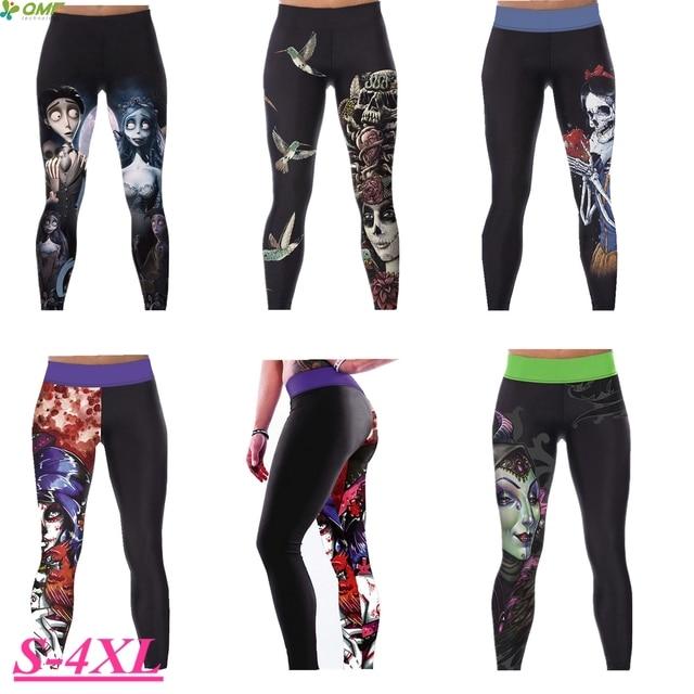 b910220993 Evil Queen Women's Compression Yoga Pants Corpse Bride Running Leggings  Fitness Gym Tights Sugar Skull Sport Trousers Black Slim