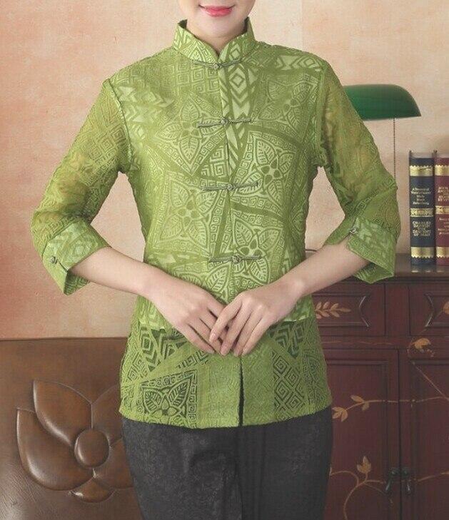Nueva Llegada del estilo Chino Tradicional de Las Mujeres Rayón Camisa de Algodón Superior clothing tamaño sml xl xxl xxxl envío libre Mny-010C