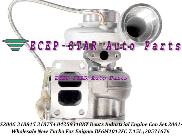 S200G 318815 318754 04259318KZ 4259318KZ 20571676 Turbo Turbocharger For Deutz Industrial Engine Gen Set 2001- BF6M1013FC 7.15L