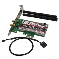 PCI-e PCI Express carta doble bande 300 Mbps WLAN WiFi adaptateur Bluetooth 4.0 # H029 #