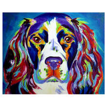 Colorful Dog Painting By Numbers,Decoration Oil For Living Room,Drawing Numbers Animal