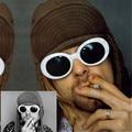 NIRVANA Kurt Cobain Sunglasses Women Men Brand Designer Female Male Sun Glasses Women's Glasses Feminine Retro Mirrored