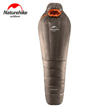 Naturehike Ultralight warm sleeping bag winter Adult Outdoor Camping mummy duck down tourist camping equipment