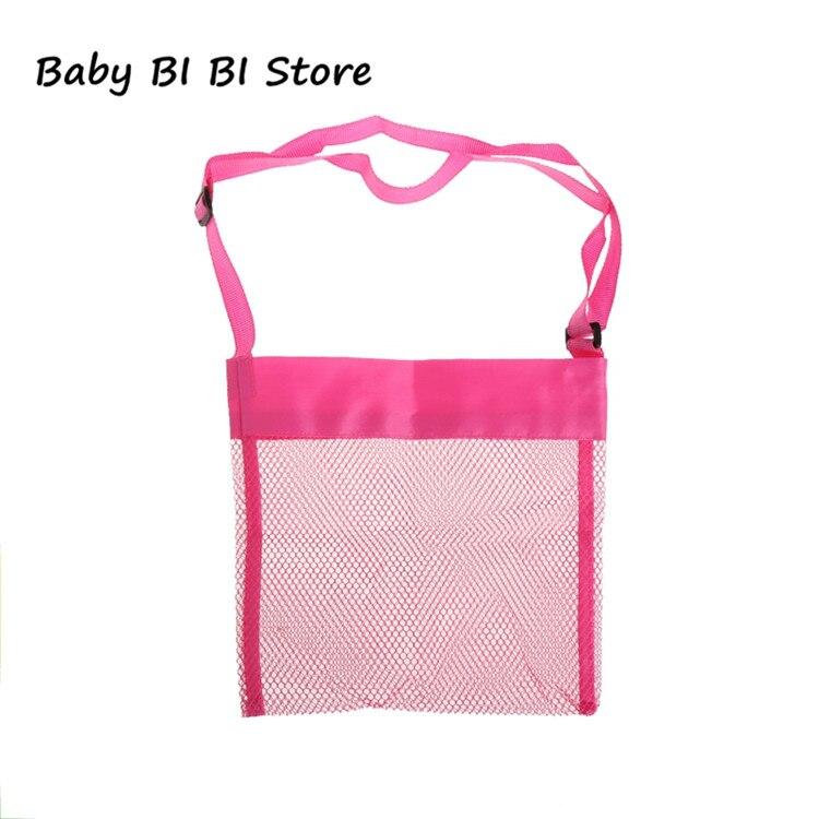 Портативная детская пляжная сумка из песка, коллекция игрушек для переноски - Цвет: Розовый