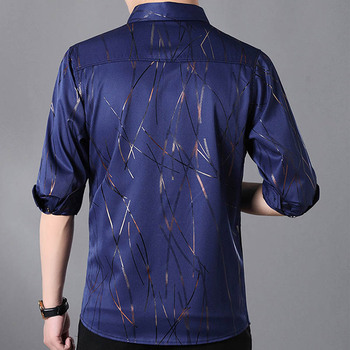 Men Fall 2018 Fashion New Men's Button Shirt Designer Long Sleeve Man Printing Bussiness Shirts Big Size Camisa Social 5XL 7XL 1