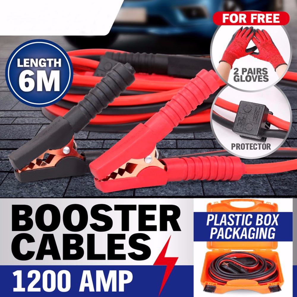 1200AMP Car Hand Tool High insulation Booster Leads  Parts Heavy Duty Jump Starter Cables Clips Free Shipping AD1018