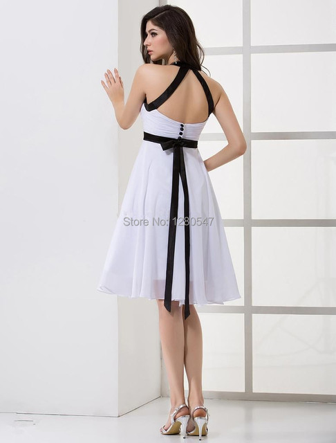 2014new Arrival Cheap Homecoming Dress Little Black And White Semi