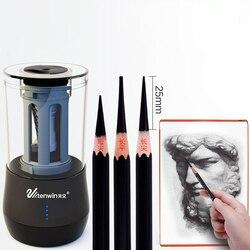 Tenwin Art profesjonalne elektryczna temperówka do ołówków Usb ładowanie automatyczne temperówki do ołówka dla dzieci papiernicze artykuły szkolne|Ostrzałki|   -