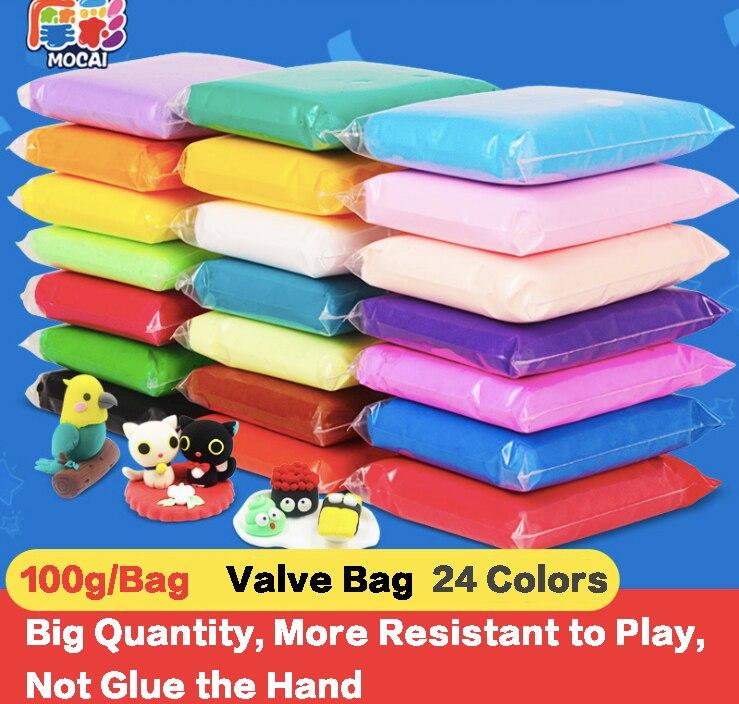 Modelare Culoare polimer acrilic de argilă 24 Color 100g / Bag DIY - Învățare și educație