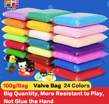 Modelování barevných měkkých polymerů Clay 24 Color 100g / Bag DIY Hračky Děti Narozeniny Vzdělávací inteligence Dárky Creative Plaything