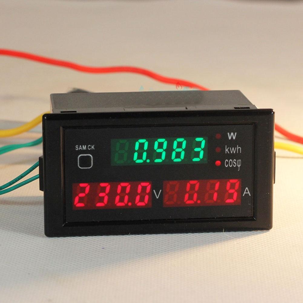AC 80-300V LED Display Digital Ammeter Voltmeter Power Voltage Current Electric Energy Voltmeter Hot yb27a led ac 60 300v digital voltmeter home use voltage display w 2 wires