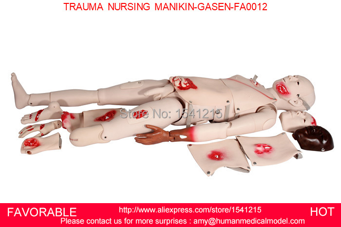 TRAUMA SIMULATOR, WOUND CARE NURSING SKILLS MANIKIN,NURSING MANIKIN,NURSING MANIKINS AND TRAUMA NURSING MANIKIN-GASEN-FAM0012 nursing baby child nursing manikin baby model infant first aid manikin full functional child nursing manikin gasen psm0023