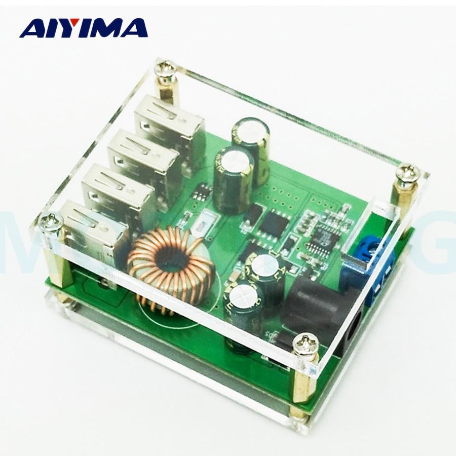 1pc 5A DC-DC Step-down module Converter BUCK Adjustable  60V48V36V24V12V9V to 5V/5A 4USB dc dc automatic step up down boost buck converter module 5 32v to 1 25 20v 5a continuous adjustable output voltage
