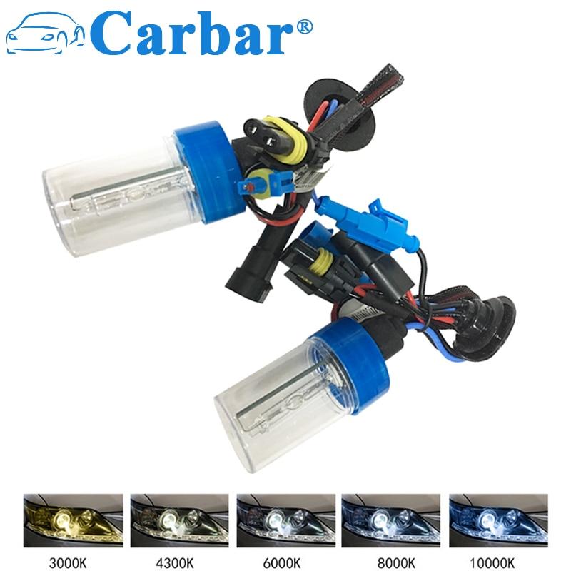 Carbar HID HB3 Xenon Lights Bulbs Car Headlight Conversion Kit Replacement HID Bulbs 9005 6000K 55W