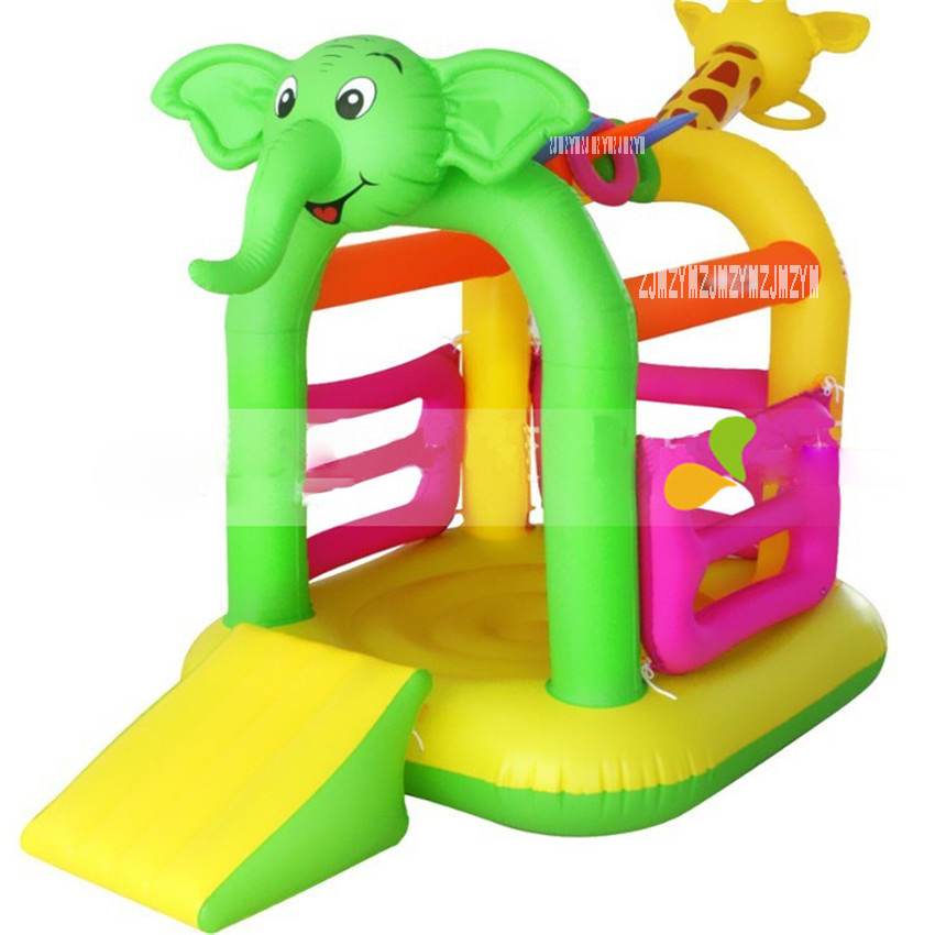K-2018 Child inflatable bouncer home trampoline with sliding board kids inflated trampoline with cute animals shape Material PVCK-2018 Child inflatable bouncer home trampoline with sliding board kids inflated trampoline with cute animals shape Material PVC