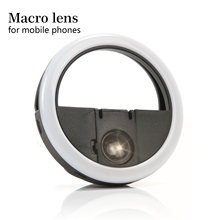 Anmas Rucci Black 0.63 X macro Eyelash shooting Fill light LED Lamp Wide Angle/Macro Phone Camera Lens extension tool
