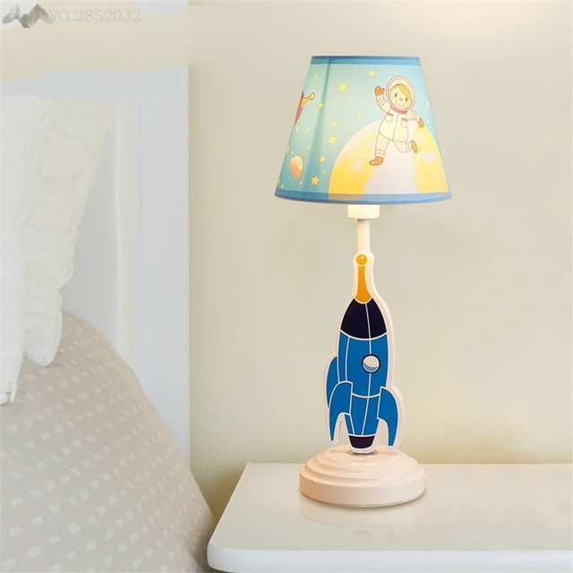 Online Shop LFH Creative Cute Table Lights Spaceship Childrens - Boy lamps for bedroom