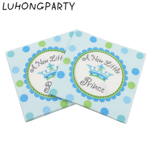 20pcs/pack 33*33cm Crown Princess Prince Paper Napkin Placemat kid Birthday Party Decoration table decoration accessory