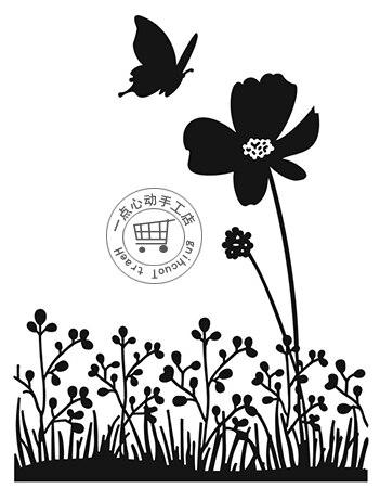 Mariposa Y Flor Alta Calidad 108 146 Cm Darice Plantillas Para