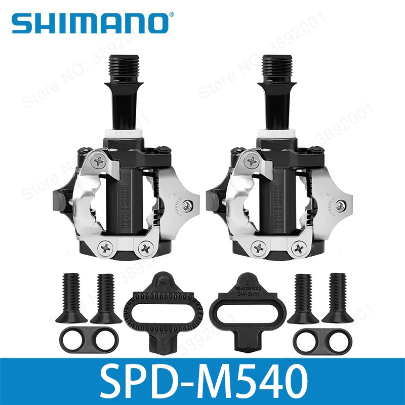 SHIMANO PD-M540 M540 MTB SPD Pedals MTB Bike Bicycle Cycling Self-Locking Pedal Clipless SPD SM-SH51 Cleats shimano pd m545 spd bicycle cycling pedal mtb mountain xc clipless bike incl sm sh51 cleats mountain bike pedals