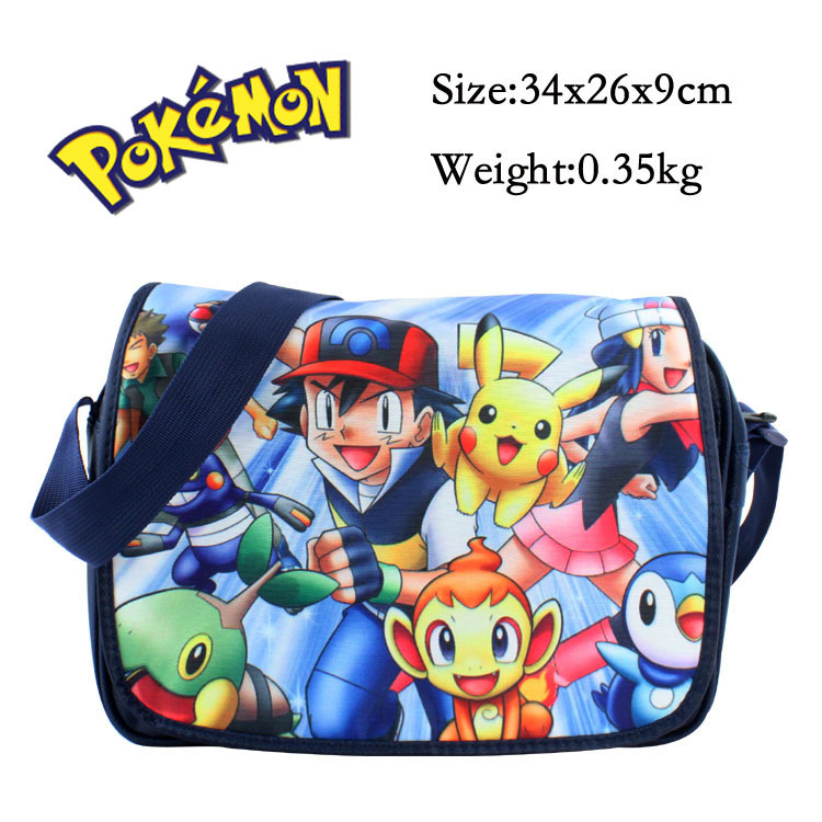 0f305038a5 2016 Anime Pokemon Cartoon Pikachu Messenger Shoulder School Bag For Students  Kids Children Boys Girls Canvas Bags-in Crossbody Bags from Luggage   Bags  on ...