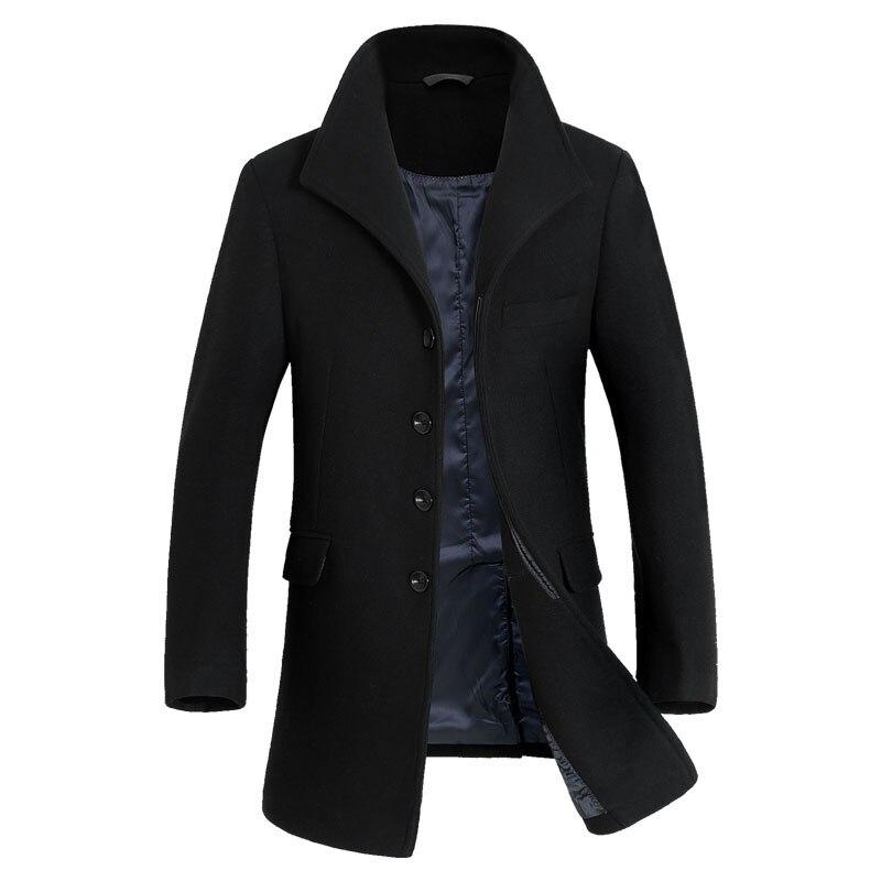 custom made autumn new men winter coat long wool slim good quality wintermantel wolle herren in. Black Bedroom Furniture Sets. Home Design Ideas