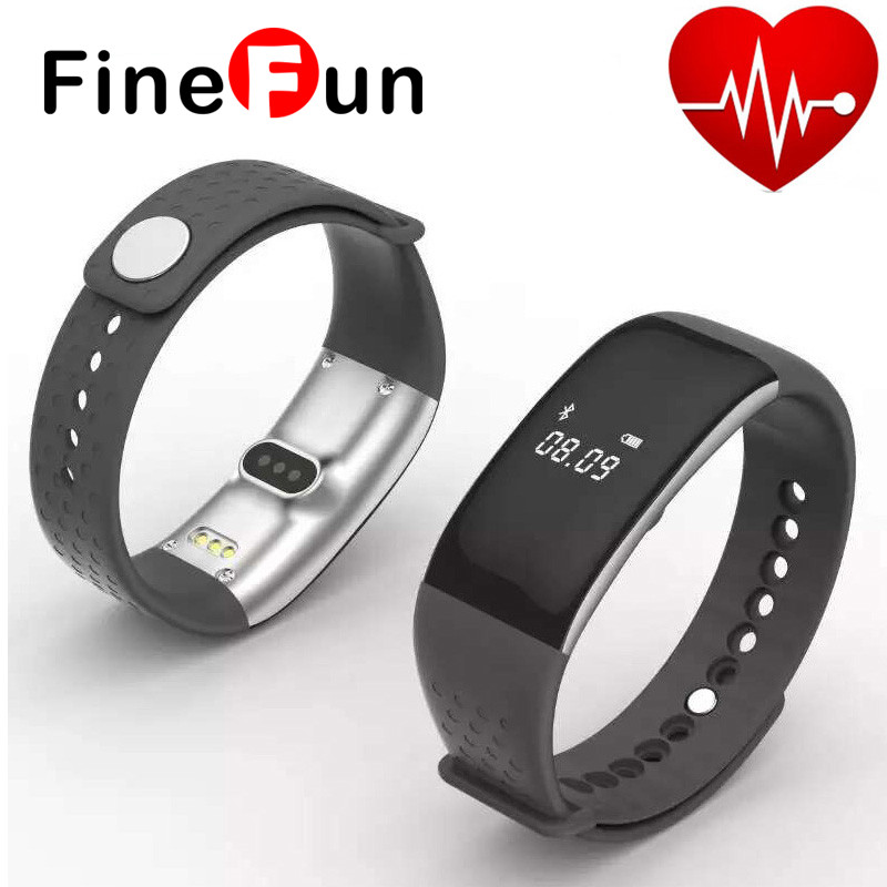 FineFun 2016 New S1 Bluetooth Smart Heart Rate Monitor Bracelet Exercise Gym Phone / SMS Alert Bracelet For IOS Android