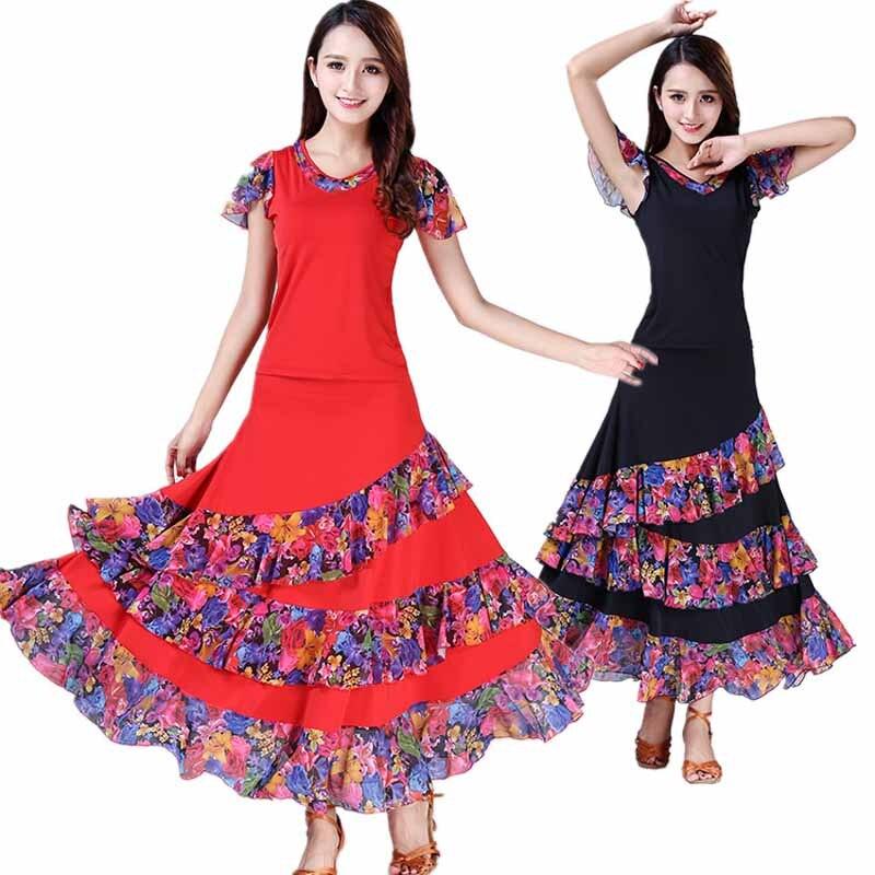 ballroom dance dress standard dance costume for lady competition waltz dress tango dancing wear grils trot dancewear L-XXL (1)