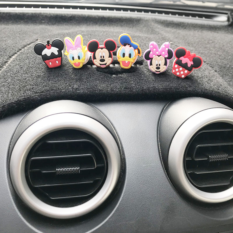 Minnie car shape fun cartoon perfume Mickey decoration air freshener conditioning ventilation clip