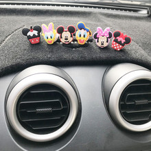 Minnie perfume do carro divertido, desenhos animados da minnie do carro decoração do mickey carro purificador de ar condicionado ventilação clipe