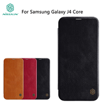 купить NILLKIN For Samsung Galaxy J4 Core Case High Quality Leather Case For Galaxy J4 Core Luxury Flip Leather Cover With Card Holder дешево