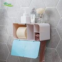 Free punching toilet tissue box waterproof roll paper tube Bathroom creative home paper box shelf