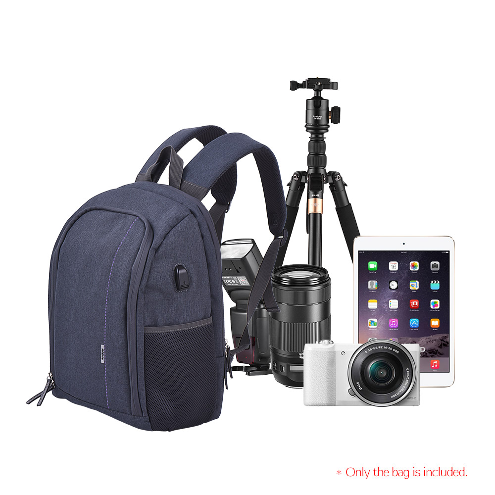 Smart Outdoor Waterproof Travel Bag Photography Package Camera Accessories Bag Fit Phone Bag Mobile Power Bank Pack Sport Casual Pack Traveling Accessories & Parts Camera/video Bags
