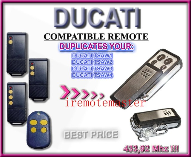 US $7 36 8% OFF|Ducati tsaw1, tsaw2, tsaw3, tsaw4 compatible remote  replacement-in Door Remote Control from Security & Protection on  Aliexpress com |