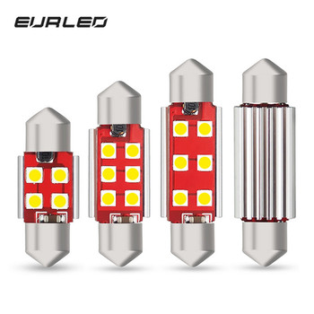 4x Festoon 31mm 36mm 41mm LED Bulbs C5W C10W Canbus Interior Lights License Plate Light For BMW E39 E36 E46 E90 E60 E30 E53 E70 image