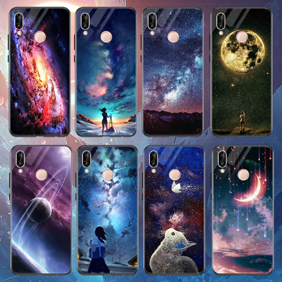 Glass Case For Huwei P20 Lite Nove 3 2i Silicone Anime Case For Huawei Honor Play 9 7A Mate 10 20 Lite P20 Pro P Smart Y6 2018   (1)