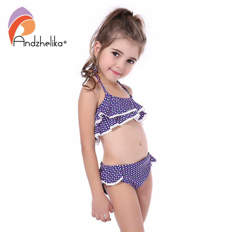 1f215afcc5c Andzhelika New Children's Swimwear Cute Heart Bikini Girls Summer Swimsuit  Beach Kids Swimwear Child Sports Bathing Suit AKZS56