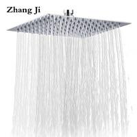 ZhangJi 10'' Stainless Steel Waterfall Shower Head Bathroom Accessories Big Rain Showerhead Luxury 25cm Wall Mounted Shower Head
