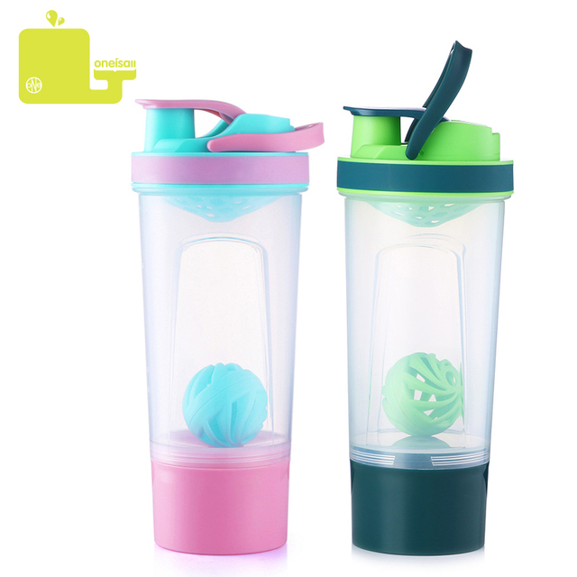 Portable Outdoor Gym Sports Fitness Training Plastic Shaker Water Bottle Mixer 720ml