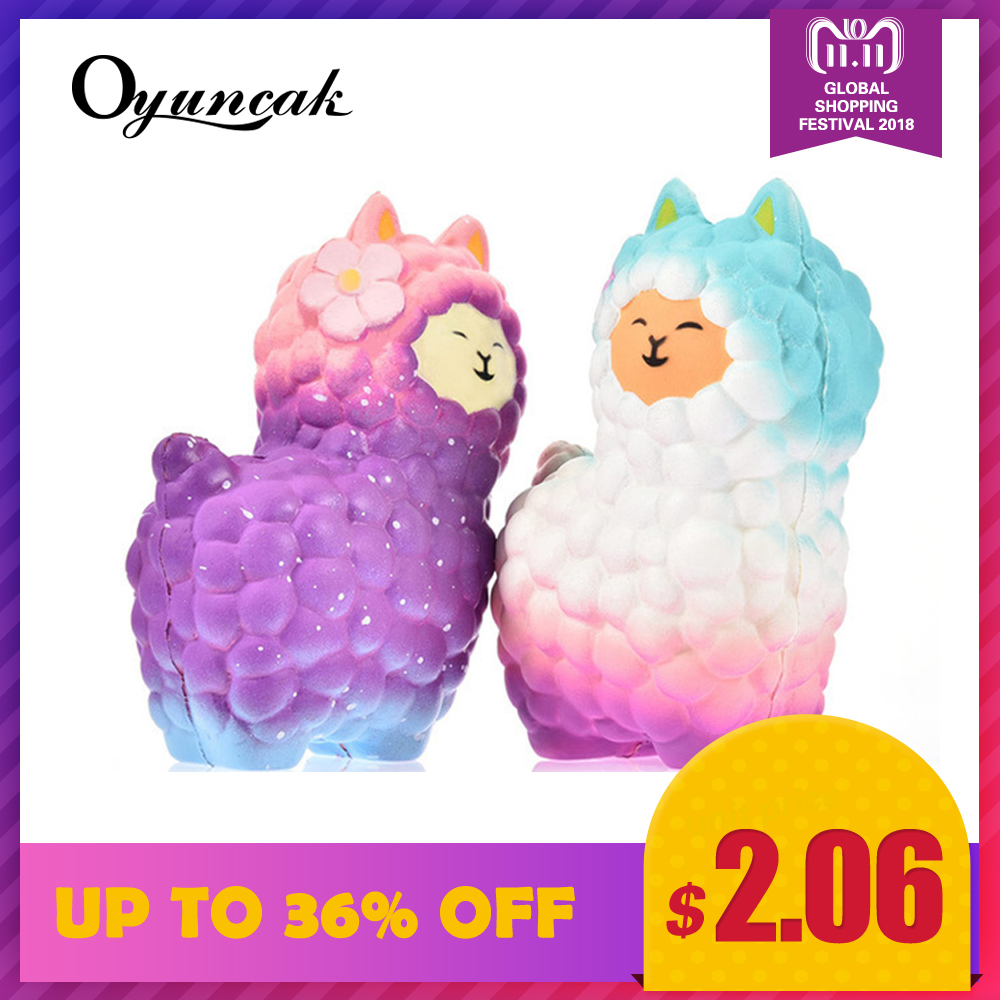 Oyuncak Squishy Sheep Alpaca Squish Toys Entertainment Antistress Girls Fun Gadget Gags Practical Jokes Squisy Novelty Gag Toys fulljion squishy alpaca slow rising antistress squishe toys jumbo fun gadget squisy stress relief toy girls gags practical jokes