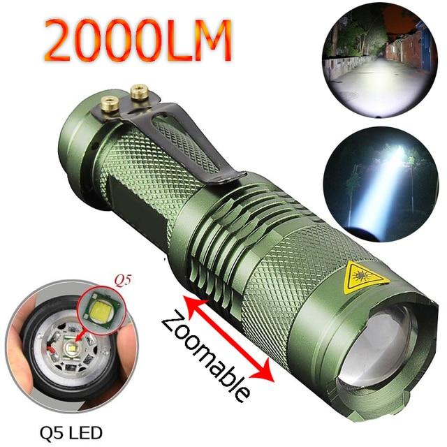 Zk50 2017 Wasserdichte Led Taschenlampe High Power 2000lm Mini Spot Lampe 3  Modelle Zoombare Camping Ausrüstung