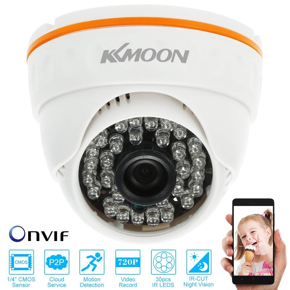 """bilder für KKmoon HD 720 P ONVIF Ip-kamera Innen 1/4 """"Sensor IR LED Infrarot-nachtsicht Sicherheit CCTV Dome Kamera plug & Monitor"""