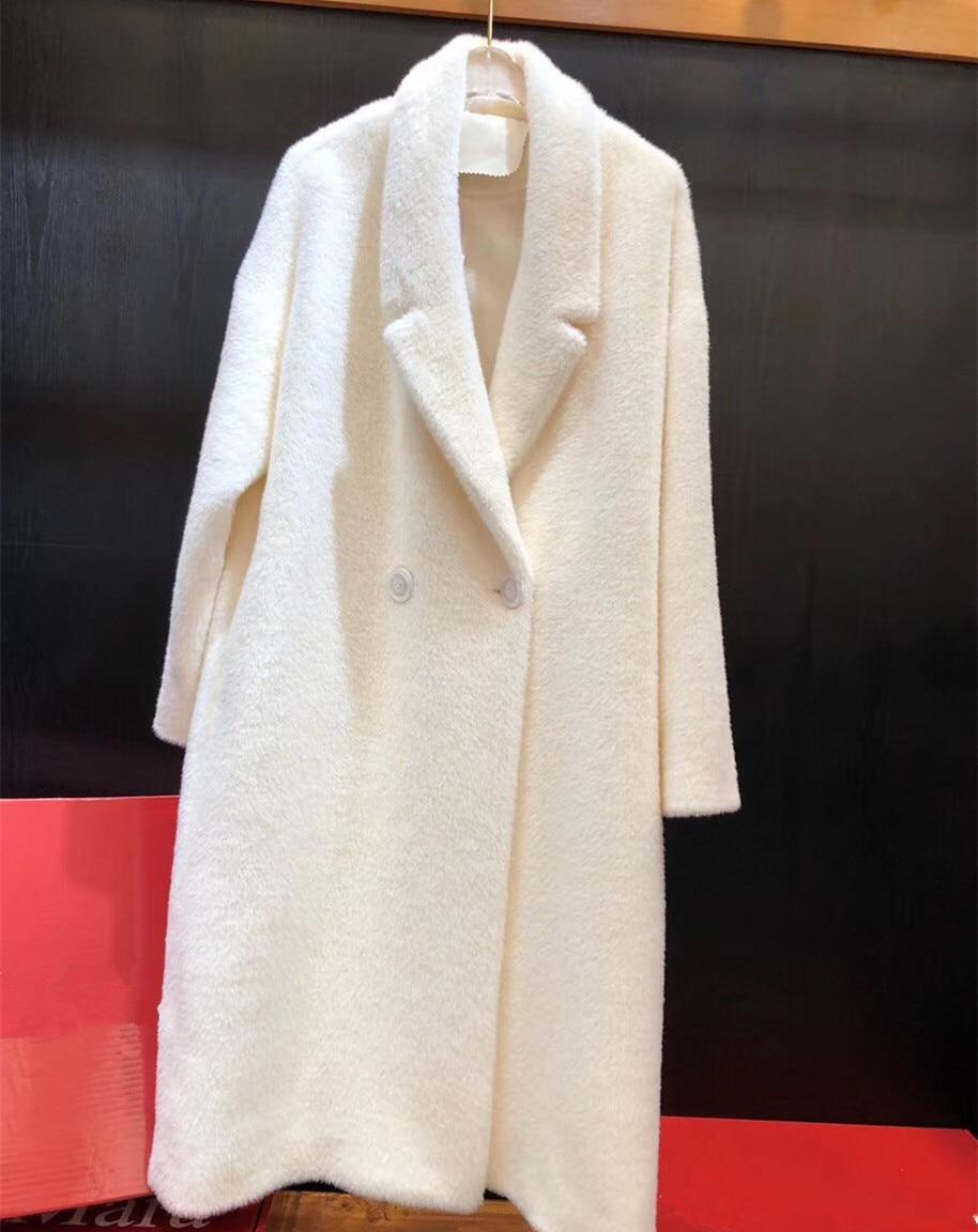 Femmes de Fourrure Manteau Long Trench Manteaux Single-breasted Réel Laine Manteaux D'hiver Vestes pour Femmes