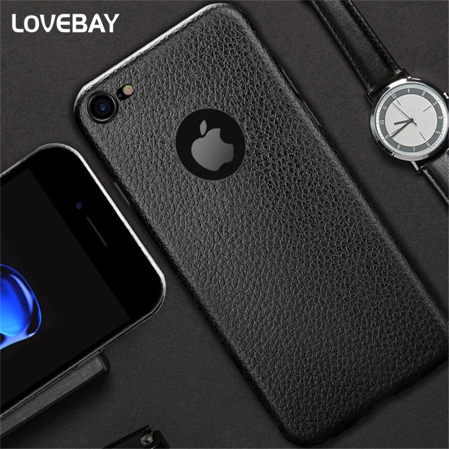 Teléfono de la empresa case para iphone 6 6 s 6 s plus 7 7 plus piel de cuero de
