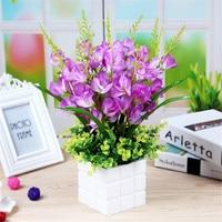 Artificial flower new butterfly orchid pots DIY creative desktop Decoration simulation plant flowers home decoration