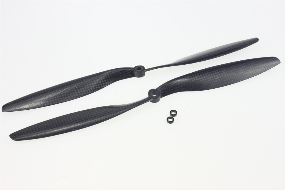 F05308 CW CCW 1245 12x4.5 3K Carbon Fiber Propeller Props Blade For RC Quadcopter Helictopter 2pairs 6030 6 3 carbon fiber 3 blade propeller prop cw ccw for qav250 280 multirotor quadcopter rc drone