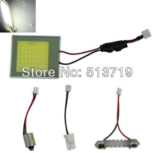 48 LED Weiße Hohe Helle COB Chips Innenbeleuchtung Panel T10 Ba9s Girlande